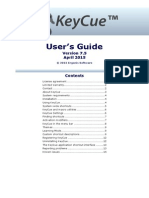Key Cue Users Guide