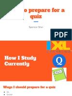 study habits reflection