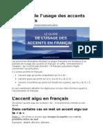Accentul in Franceza