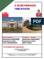 Basic Electronics 15ELN1525 by Arun Kumar G (Associate Professor, STJIT, Ranebennur) & Spoorti Jainar( Assistant Professor, KLEIT, Hubli)
