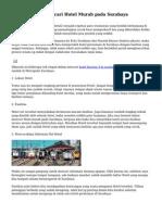 Trik Jitu Buat Mencari Hotel Murah pada Surabaya