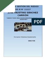 Plan de Gestión Del Riesgo 2015