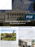 Central London property and the park premium