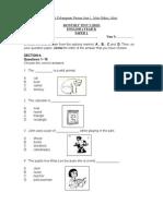 English Paper Ujian Bulanan 2 Year 2 2015