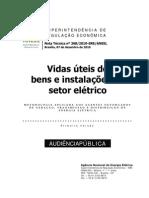 ANEEL - Nota técnica 368_2010 - Vidas Úteis de Bens e Instalações do Setor Elétrico