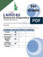 Evaluación Diagnóstica 3er Grado PRIMARIA