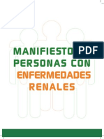 Manifiesto De Personas Con Enfermedades Renales
