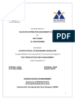 Project Report on Sales and Distribution Management (Autosaved) Fdkjaskl