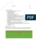Planificación Sistema de Control Manual