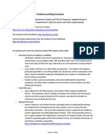 American Studies PhD Timeline and Requirement Elaboration January 2014