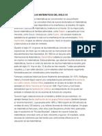 Las Matematicas Del Siglo Xx