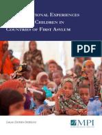 Educational Experiences Refugee Children Countries First Asylum