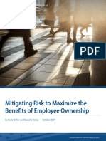 Mitigating Risk to Maximize the Benefits of Employee Ownership