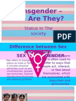 Transgender – Who Are They