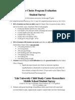 calmer choice evaluation summary by adria