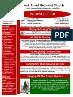Newsletter for November 2015