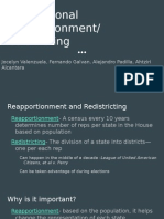 congressional reapportionment- redistricting