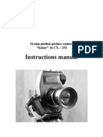 KINOR 16CX–2M 16mm Motion Picture Camera Instruction Manual