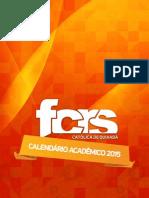 Calendário Acadêmico 2015 - Católica de Quixadá