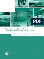 Technology and Policy Options for a Low-Emission Energy System in Canada