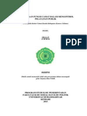 Contoh Proposal Skripsi Ilmu Pemerintahan Pdf Barisan Contoh