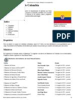 Anexo_Ministros de Colombia - Wikipedia, La Enciclopedia Libre