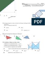 7-2 teste B Equações e pitágoras