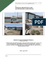 estudio de pre inversion de la IE  Inca Pachacutec
