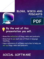 Blogs, Wikis and Podcasts