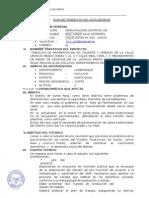 Plan de Trabajo Pavimentación Ca. Leoncio Prado