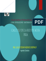 Calculo de Red de Agua Fria