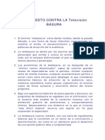 Manifiesto Contra La Telebasura