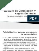 Ejemplo de Correlación y Regresión Lineal Simple