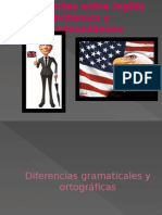 Diferencias Entre Inglés Británico y Estadounidense