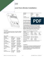 3100560 R5.0 Genesis Temporal Horn-Strobe Installation Sheet