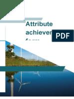 Attribute Achievement Form