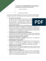 Paper de Tendencias Actuales de Mantenimiento