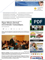 23-10-15 Sigue Marco Bernal Recorriendo Tamaulipas