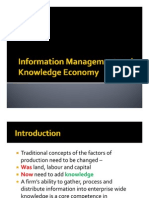 Information Economy and Knowledge Management