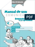 Manual Entrada Comunicacion 4to Grado