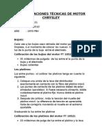 Especificaciones Técnicas de Motor Chrysley