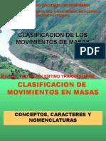 Clasificacion Movimientos de Masas
