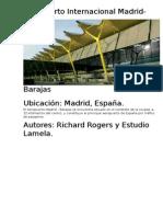 Analisis de diseño estructural - Aeropuerto Internacional Madrid - Barajas
