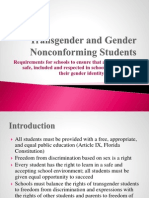 Transgender and Gender Nonconforming Students