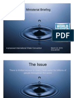 An international convention on water