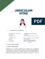 Curriculum Vitae Caty 2015