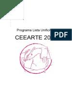 Programa UnificArte - Lista Ceearte 2016