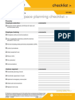Confined Space Planning Checklist