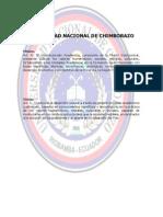Univesidad Nacional de Chimborazo