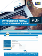 MyTouchnGo Portal View Statement and Print